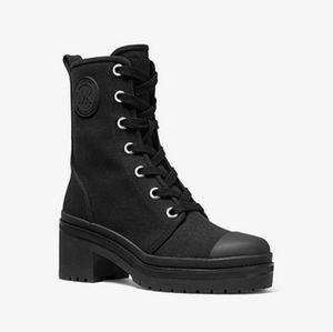 Michael kors corey canvas combat boots. Size 8.5